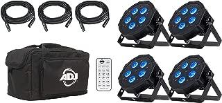 ADJ Products LED Lighting, Black (Mega Flat Hex pak)
