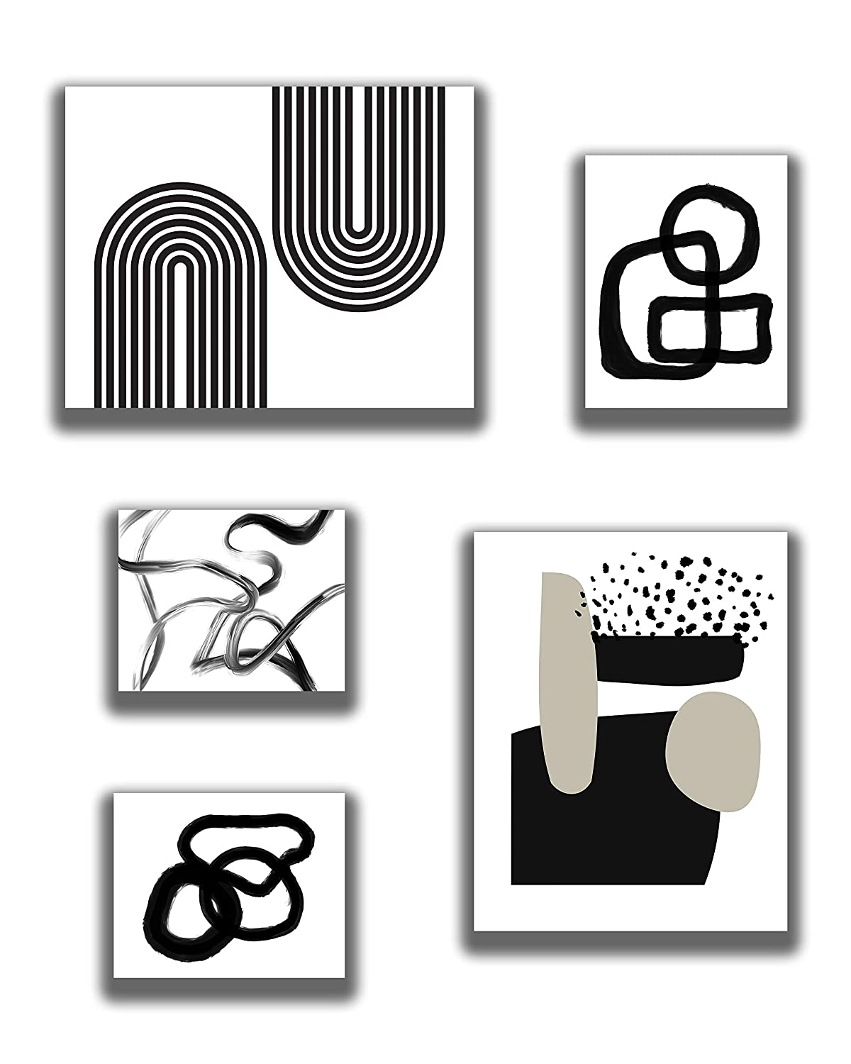 Modern Abstract Gallery Wall Omaha Mall Quantity limited Decor - 2 -8x1 of -11x14