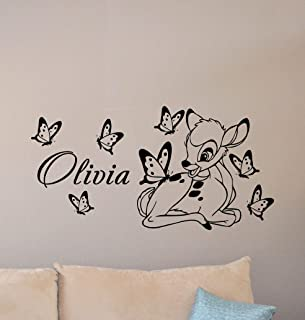 amazon com bambi poster toys \u0026 gamesbambi wall decal personalized baby name poster custom sign disney quote nursery vinyl sticker gift child