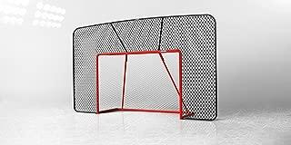 Acon Wave 183 Galvanized Steel Hockey Goal with 5mm Heavy Duty Nylon Net and PRO Backstop Net Combo