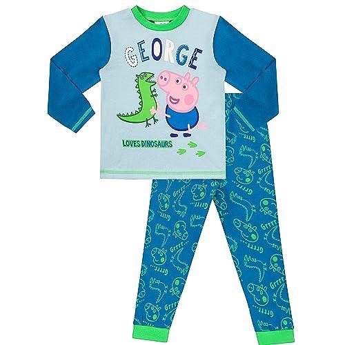 4ce7edac9 Peppa Pig Long Pyjamas George Dinosaur Pig Boys W16
