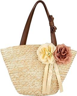 Korbtasche Sommer Strandtasche Vintage Stroh Handtasche Handgewebt Böhmische Schultertaschen für Frauen Reisen Urlaub