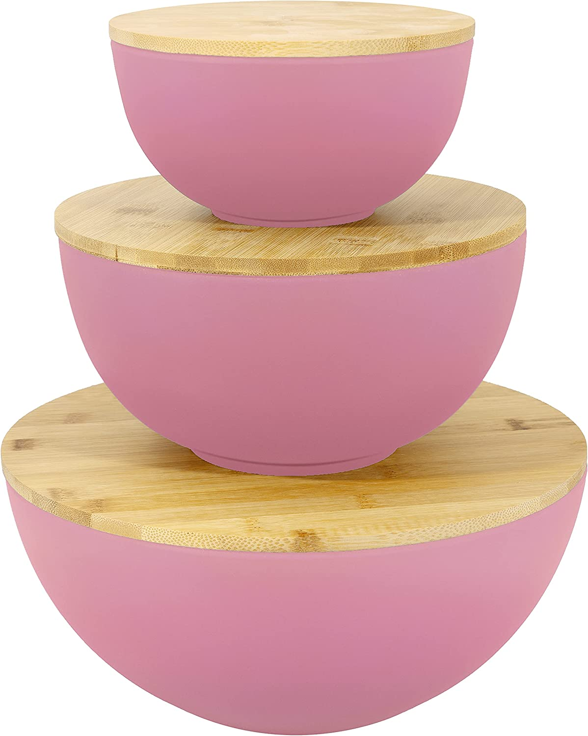 Large Salad Bowl Year-end annual account with Lid Indianapolis Mall - Set 3 Bowls Wooden of