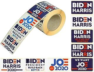 Biden Harris 2020 500 Pcs Role Stickers - 8 Patterns Biden Harris Sticker - Joe Biden Sticker -Kamala Harris Sticker for c...