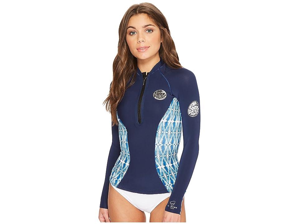 Rip Curl G Bomb Long Sleeve Full Zip Sub Jacket (Blue) Women