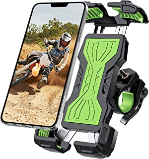 YOCKTECH Telefoonhouder voor fiets, 360° verstelbare fiets motorfiets telefoonhouder, fiets telefoonhouder voor iPhone 12 ...