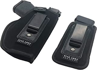 Bear Armz Tactical Universal IWB Holster for Concealed Carry I Inside The Waistband Holster I Fits S&W M&P Shield I Glock 26 27 30 42 43 I Springfield XD XDS/Ruger LC9 Sig P320 & Similar Pistols