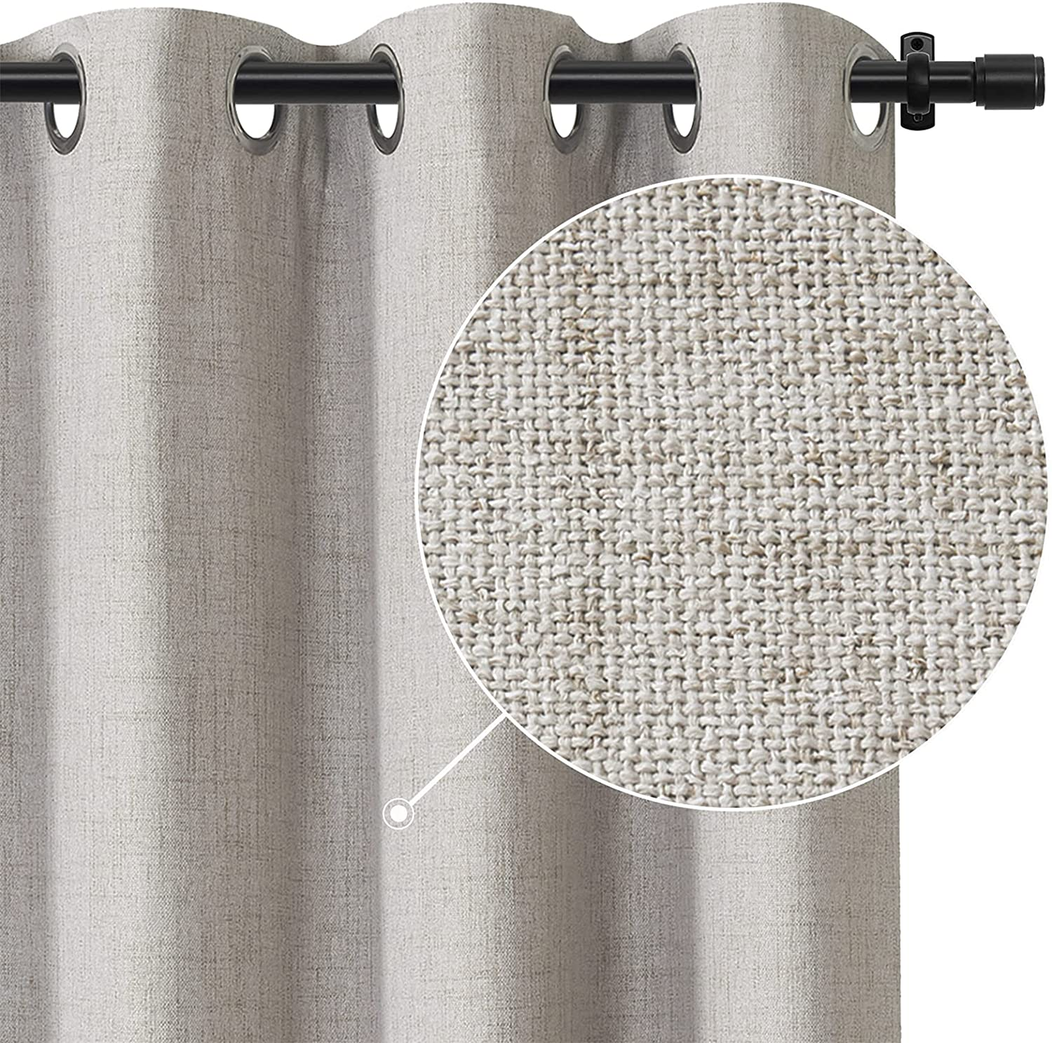 Rose Home Fashion 100% Blackout Linen for Curtains Bedroom Max 72% Ranking integrated 1st place OFF Textu