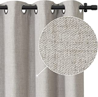 Rose Home Fashion 100% Blackout Curtains for Bedroom Linen Textured Look Drapes with Blackout Liner, Curtains for Living R...