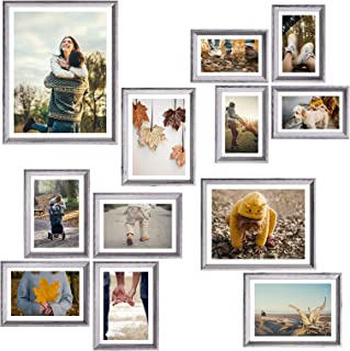 Homemaxs 12 Pack Picture Frames Collage, Collage Picture Frames For Wall and Home, Collage Frame With One 11x14 in, One 8x...