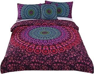 Sleepwish 4 Pcs Bohemian Duvet Covers Mandala Bedding Sets Posture Million Romantic Soft Bedclothes Boho Chic Bedspreads (Twin)