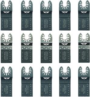 15 x TopsTools FAKB15 rápido ajuste mezcla cuchillas para Dewalt Black and Decker Bosch Fein (No-StarLock) Makita Milwaukee Ryobi Worx Multi-herramienta Workzone Multi herramienta accesorios