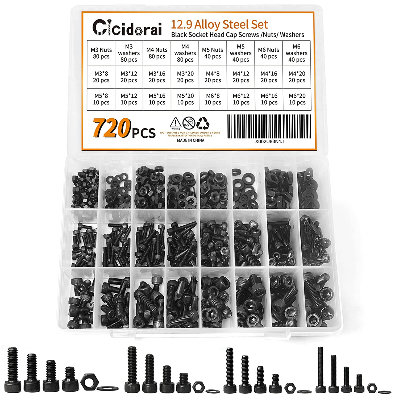 Cicidorai 720 Pcs M3 M4 M5 Be super welcome M6 Steel 12.9 Alloy Hex Grade Socket New arrival