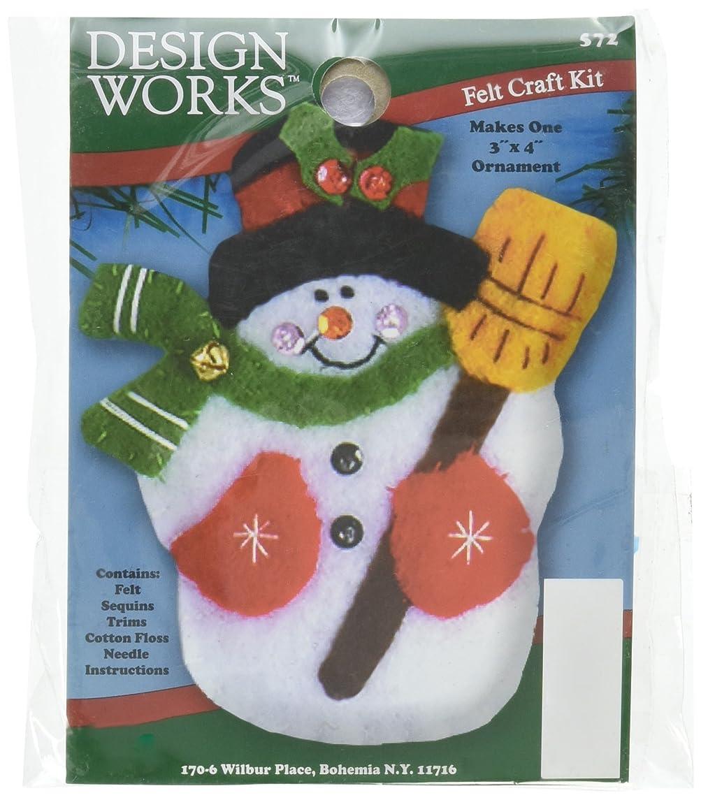 Tobin Snowman & Broom Ornament Felt Applique Kit-3