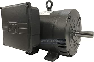NEW WEG 7.5HP HEAVY DUTY AIR COMPRESSOR ELECTRIC MOTOR 3450 RPM, 1 PHASE, 184T FRAME, 230VOLT, CAST IRON FRAME