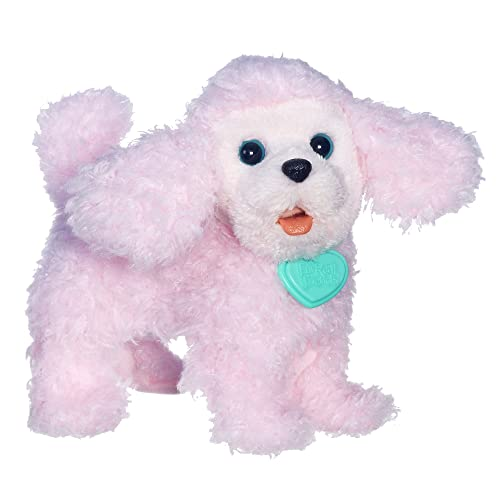 Electronic & Interactive Electronic, Battery & Wind-up Hasbro Furreal Friends Walking White Dog With Pink Leash And Brush Works