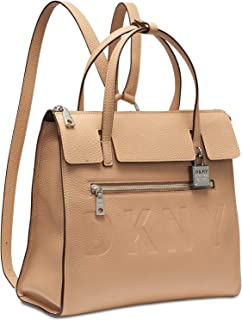 DKNY Commuter Leather Convertible Backpack - Latte (Beige)
