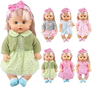 JING SHOW BUSSINESS Pack of 6 Alive Lovely Baby Gown Dress Clothes Accessories Outfits Fits 12inch Doll Bitty Baby Doll