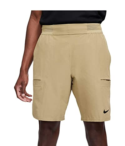 Nike Nike Court Flex Advantage Shorts 9 (Parachute Beige/Black) Men