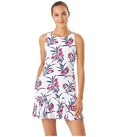 Tommy Bahama Oasis Blossoms High Neck Flounce Spa Dress Cover-Up (White) Women