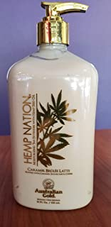 Australian Gold Hemp Nation Caramel Brulee Latte Body Lotion 18 oz