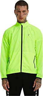 J.CARP Men's Packable Windproof Cycling Jacket,Lightweight and Water Resistant, Active Cycling Running Skin Coat