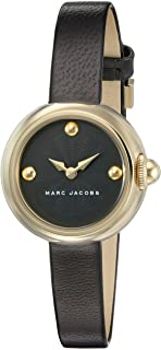 Marc Jacobs Womens Quartz Watch, Analog Display and Leather Strap MJ1432