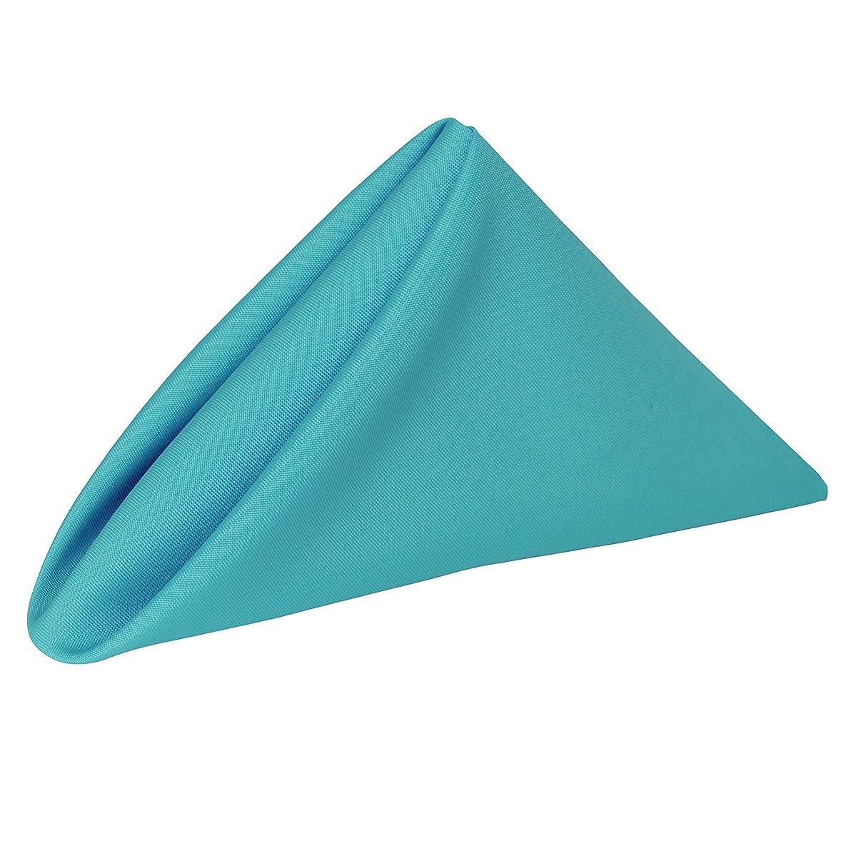 Ultimate Textile -1 Dozen- 17 x 17-Inch Polyester Cloth Napkins Turquoise Blue