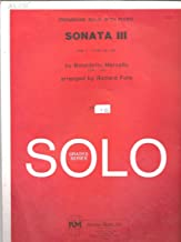 Trombone Solo with Piano Sonata III Grade 6 Playing time 9:00