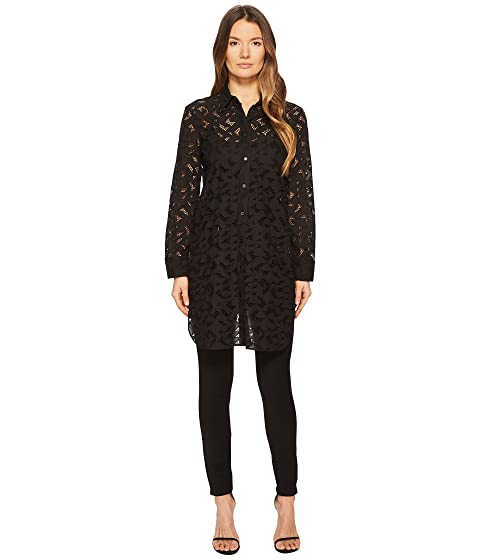 Neil Barrett Wide Step Abstract Lace Shirt