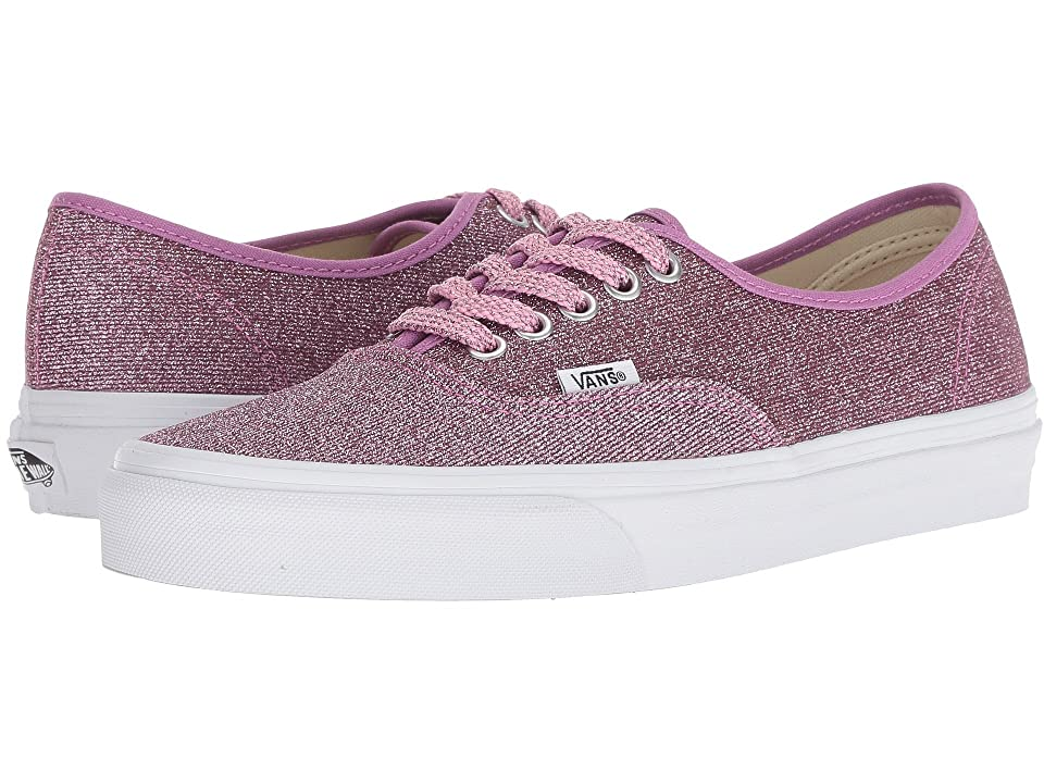 Vans Authentictm ((Lurex Glitter) Pink/True White) Skate Shoes