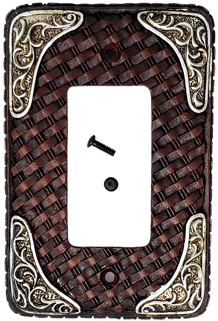 LEATHER SINGLE ROCKER SWITCH PLATE COVER