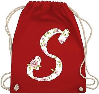Shirtracer - Anfangsbuchstaben - S Rosen - Turnbeutel und Stoffbeutel aus Baumwolle