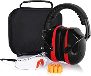 YINSHOME Shooting Ear Protection Earmuffs, Gun Safety Gl, Earplugs, Ear protection for gun range with protective case