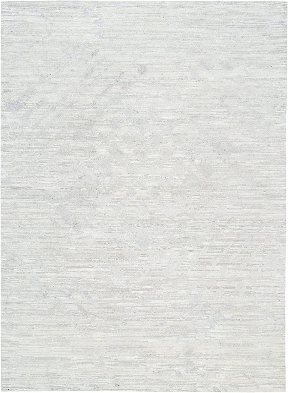 Shahbanu Rugs Super Special SALE held Hand Spun Undyed Natural Gray Cu Modern Max 47% OFF Light Wool