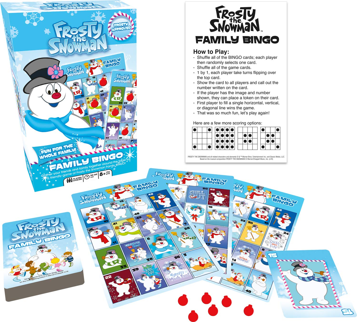 Image of Frosty the Snowman Bingo Game