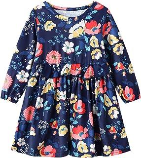 فساتين Vgowater للفتيات الصغار من القطن بأكمام طويلة كاجوال ملابس البنات الصغار 1-8Y