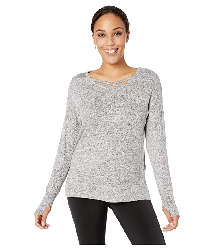 Jockey Active Warm Cozy Pullover (White/Grey) Women