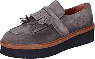 TRIVER FLIGHT Moccasins Womens Suede Grey