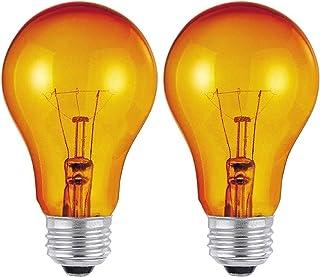 Dysmio Lighting 25W A19 E26 120V Party Bulb with Orange Finish E26 120V – 2 Pack