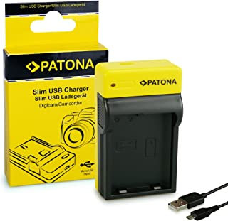 PATONA Estrecho Cargador para EN-EL14 Baterías Compatible con Nikon P7700 P7800 D3400 D5500 D5601