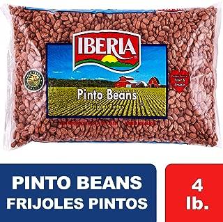 Iberia Pinto Beans 4 lb., Bulk Pinto Beans, Long Shelf Life Pinto Beans with Easy Storage, Rich in Fiber & Potassium, Low Calorie, Low Fat Food