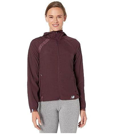 New Balance Q Speed Run Crew Jacket (Henna) Women