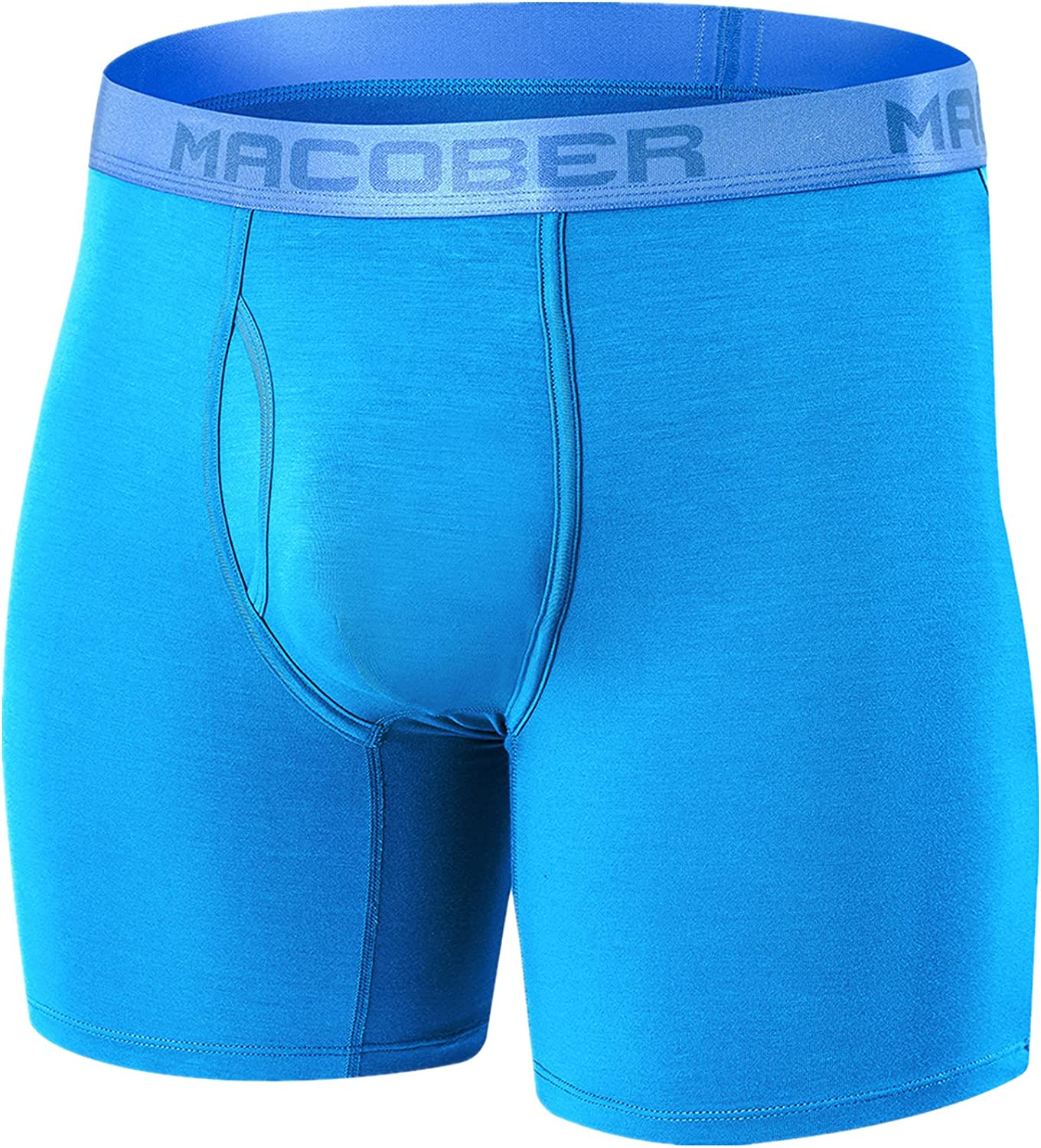 Men's Big and Tall Underwear Cooling Breathable Bamboo No Ride up Male Boxer Briefs Pack M L XL XXL 3XL