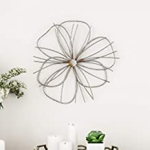 Lavish Home Wall Decor – Metallic Wire Layer Flower Sculpture Contemporary Hanging Accent Art for Living Room, Bedroom or ...