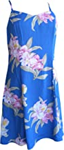 product image for Paradise Found Womens Orchid Corsage Princess Seam Mini Sundress in Blue - XL