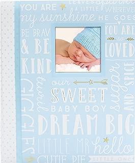 Lil Peach First 5 Years Dream Big Wordplay Baby Memory Book Journal, Photo Book, Baby Keepsakes, Blue