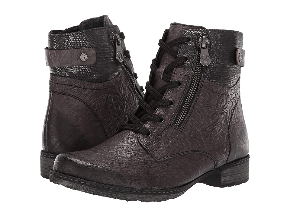 Rieker D4379 (Smoke/Schwarz Metallic) Women