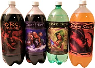 4 Pack of 4 Epic Soda Bottle Labels for Fantasy Themed Party. 7