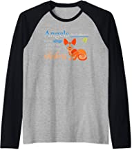 Angels Don't Always Have Wings Some Have Whiskers Raglan Baseball Tee